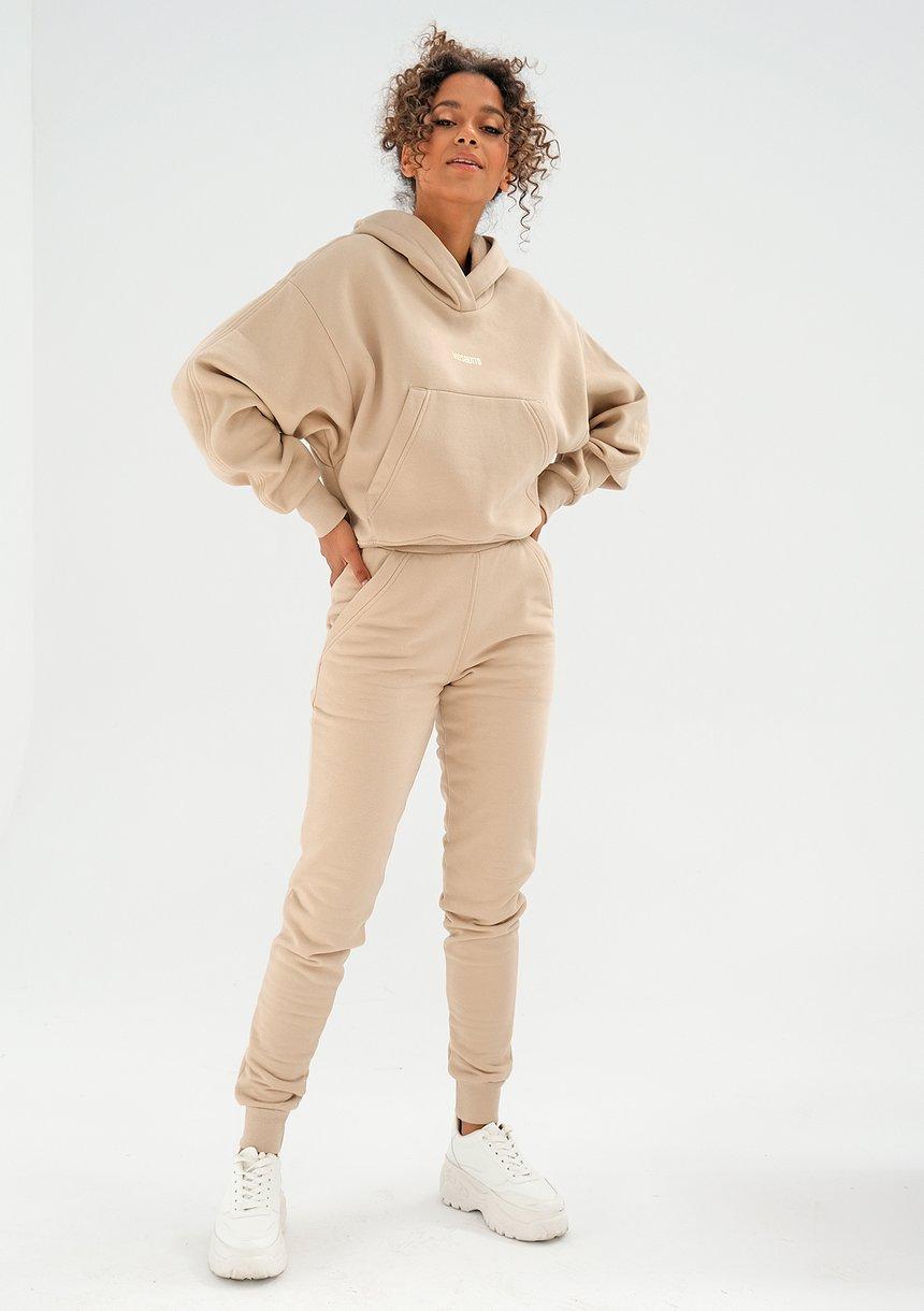 Bluza z kieszenią i kapturem Sand Beige ILM