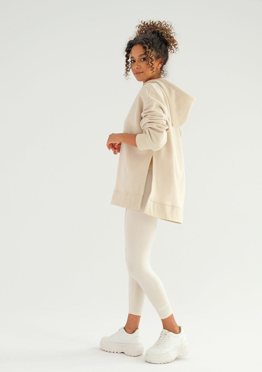 Bluza oversize z kapturem Swish Vanilla