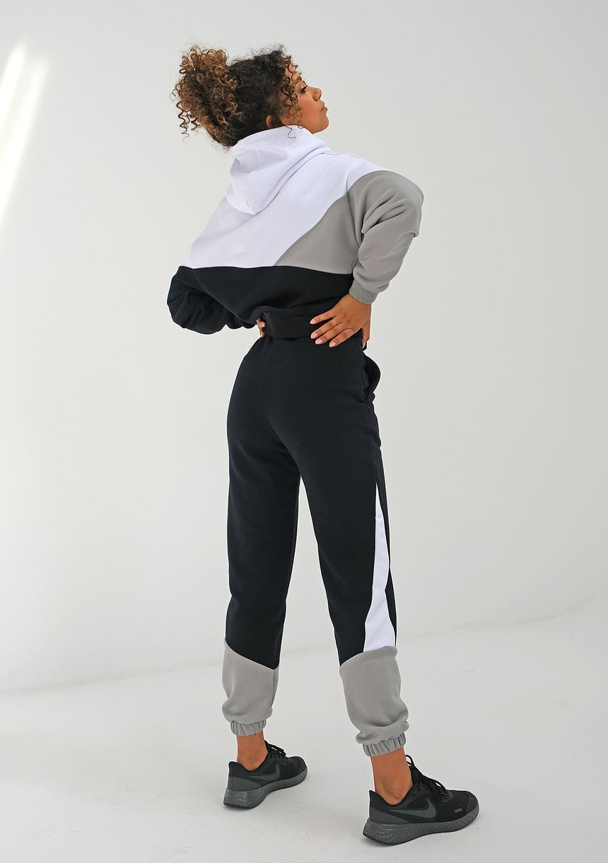 Bluza z łączonych kolorów Szara ILM
