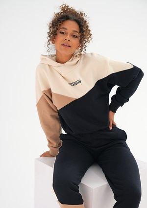 Tricolor sweatshirt Latte