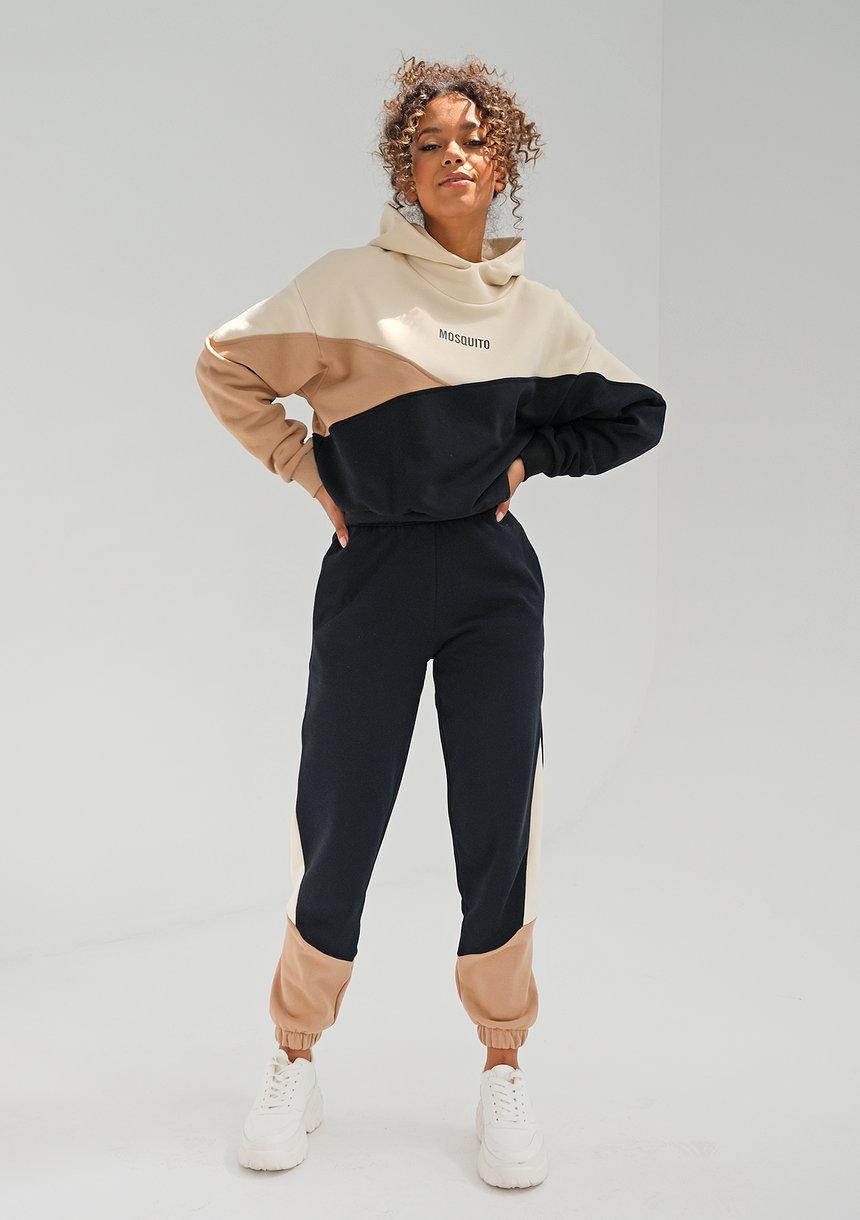 Bluza z łączonych kolorów Latte