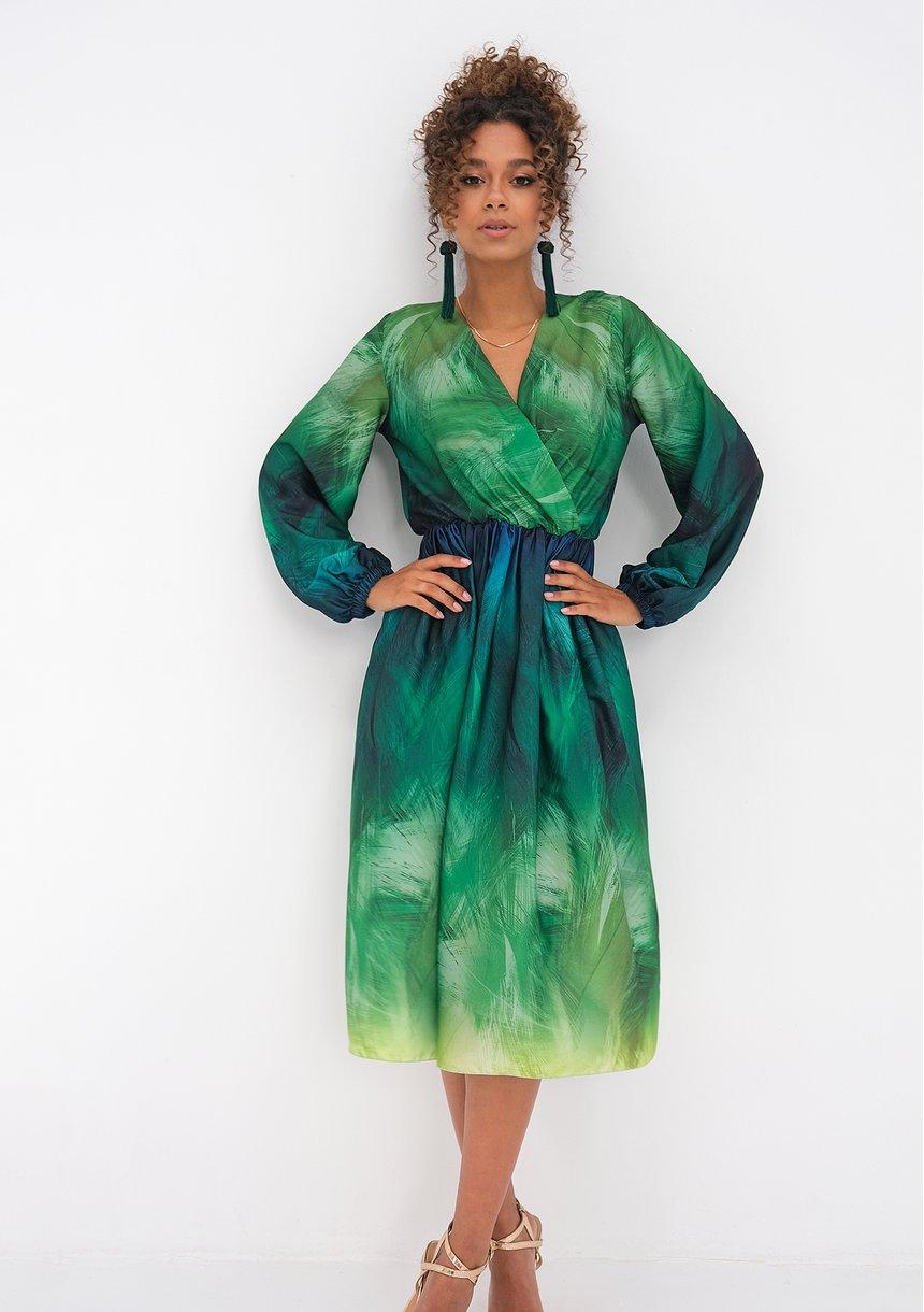 Sukienka midi Ombre Green