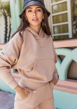 Hoodie with a pocket Warm Taupe