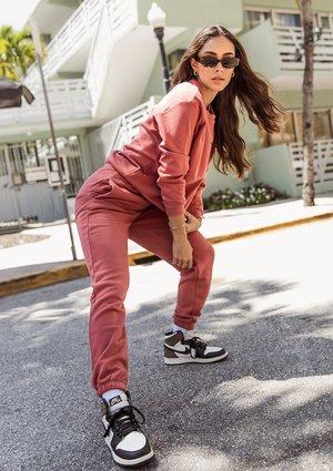 Spodnie dresowe Dusty Rose ILM