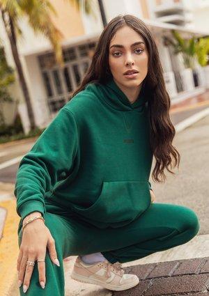 Hoodie Deep Green