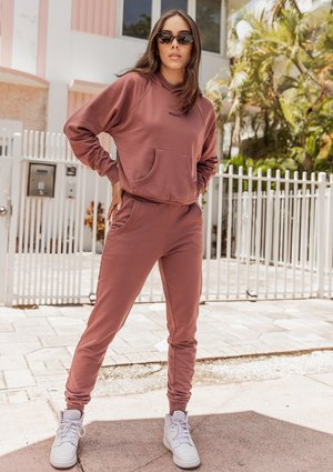 Spodnie dresowe Rose Brown ILM