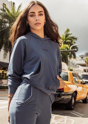Bluza z kapturem Jeans Blue ILM