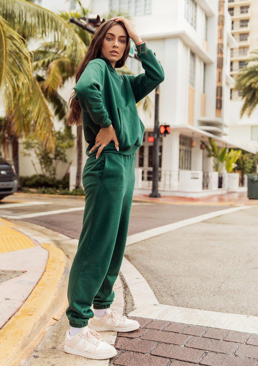 Bluza z kapturem Deep Green ILM