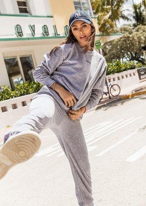 Velvet sweatshirt Melange