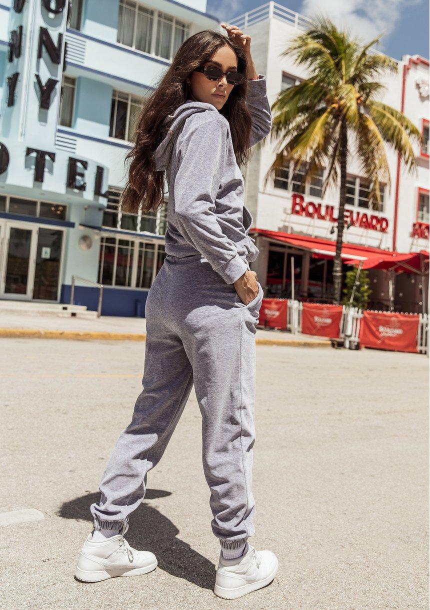 Spodnie welurowe Melange ILM