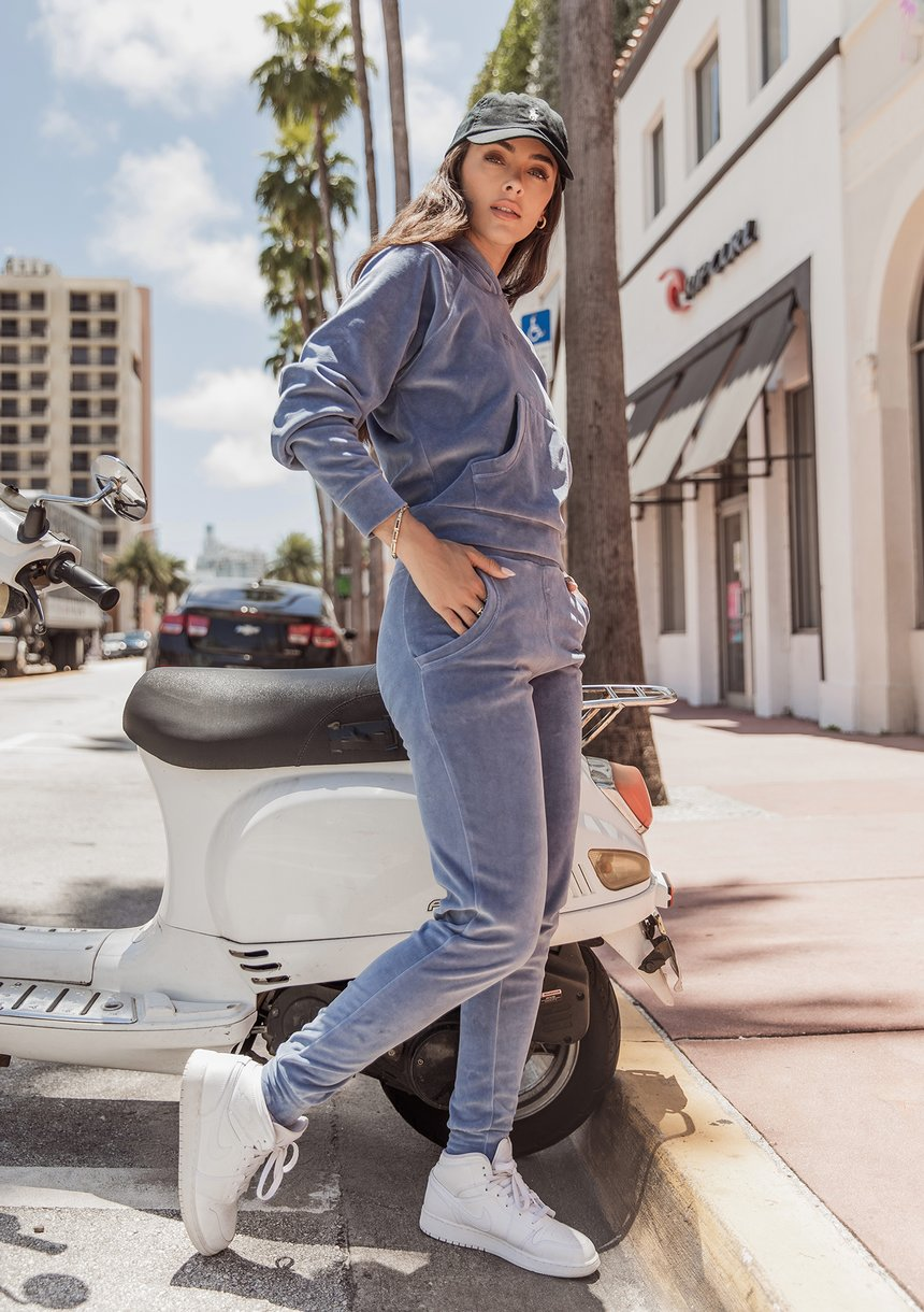 Spodnie welurowe Jeans Blue ILM