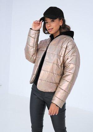Quilted jacket Metallic Beige
