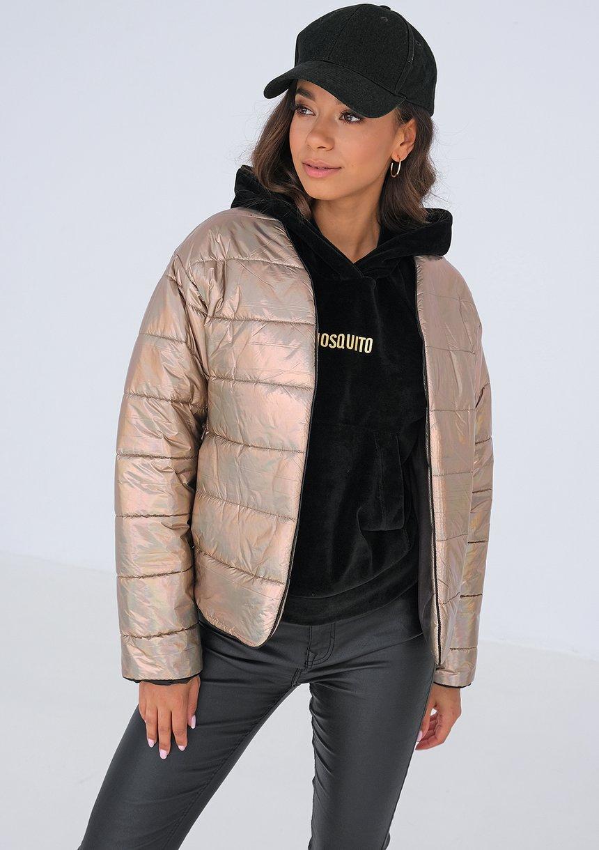 Pikowana kurtka Metallic Beige ILM