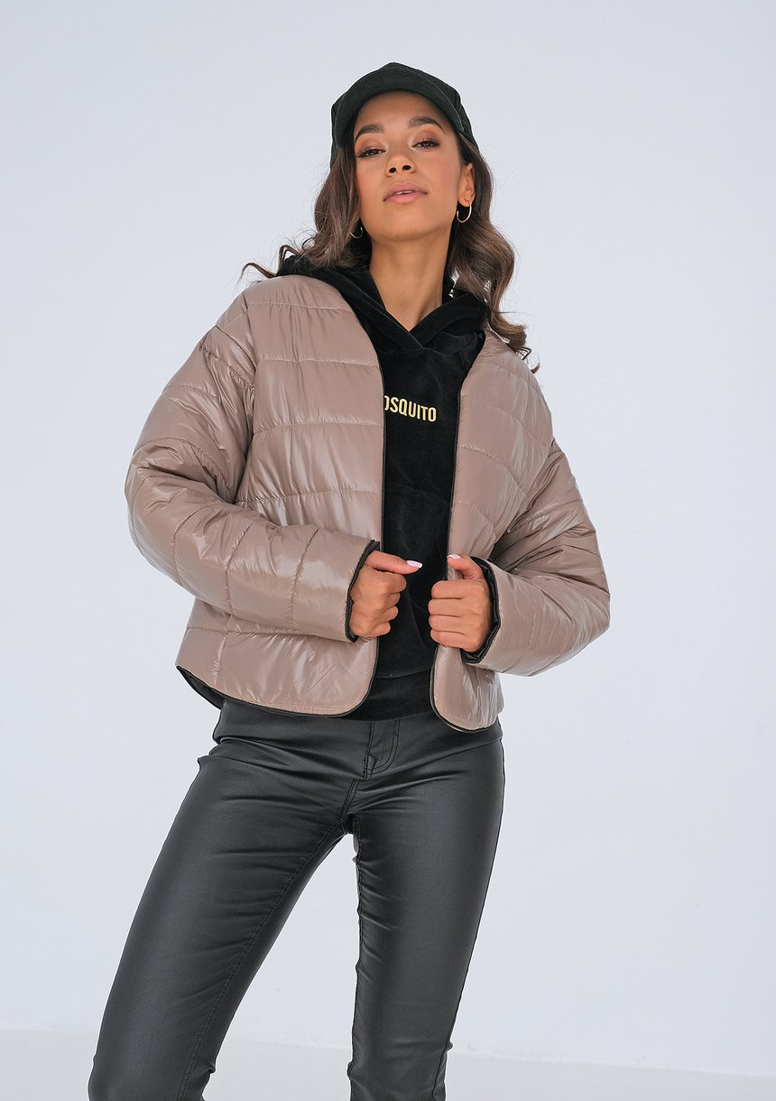 Quilted jacket Taupe