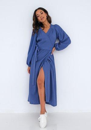 Midi wrap dress Blue