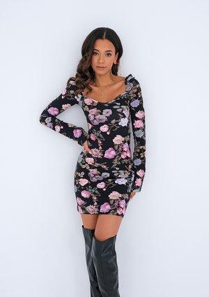 Dopasowana sukienka mini Roses