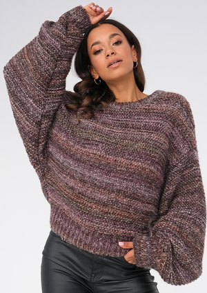 Brown melange sweater