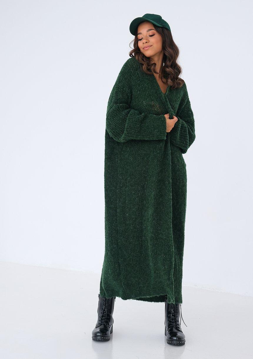 Kardigan maxi Zielony ILM