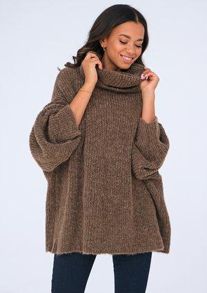 Brown turtleneck sweater ILM