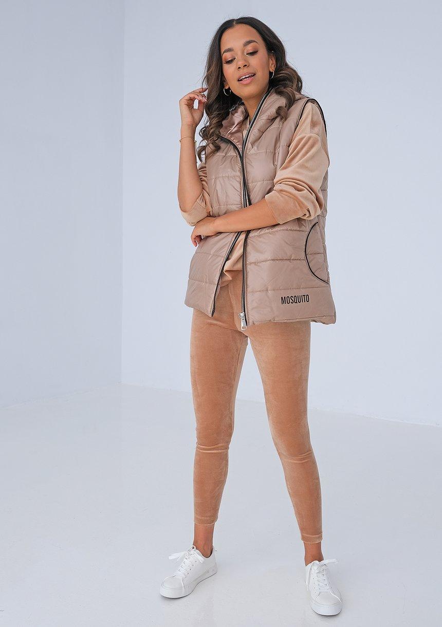 Beige velvet leggings ILM