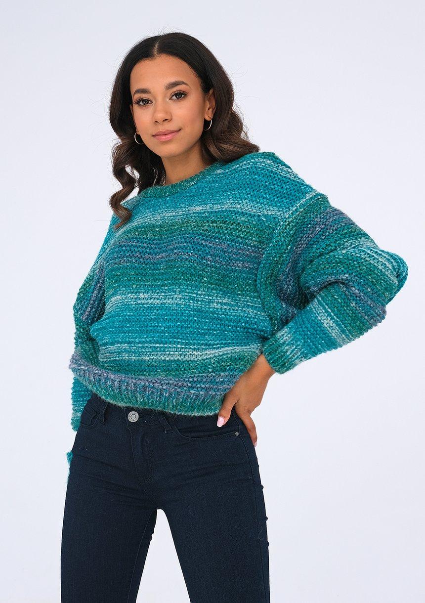 Sweter Green Melange ILM