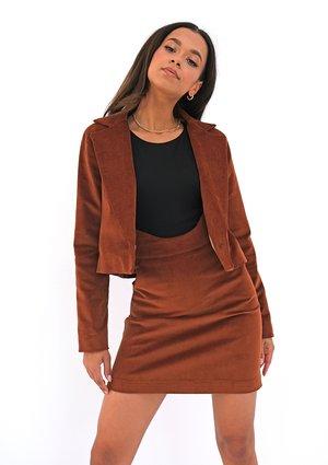 Caramel brown corduroy blazer