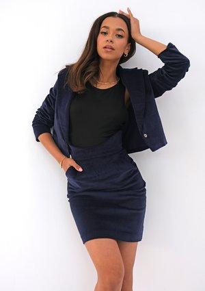 Navy blue corduroy blazer