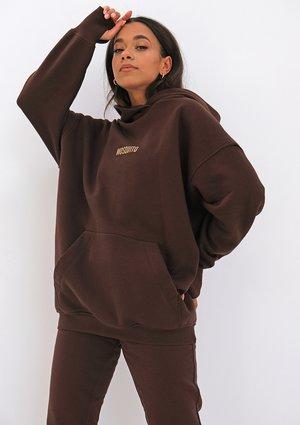 Oversize hoodie Dark Brown