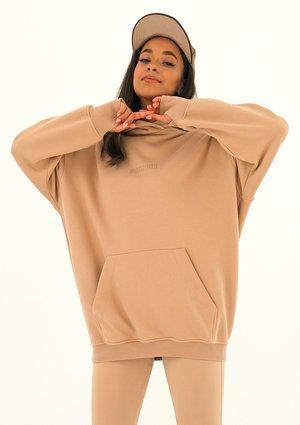 Bluza kangurka oversize Beżowa ILM