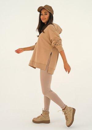 Oversize beige hoodie