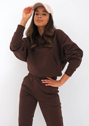 Bluza z kapturem Dark Brown ILM