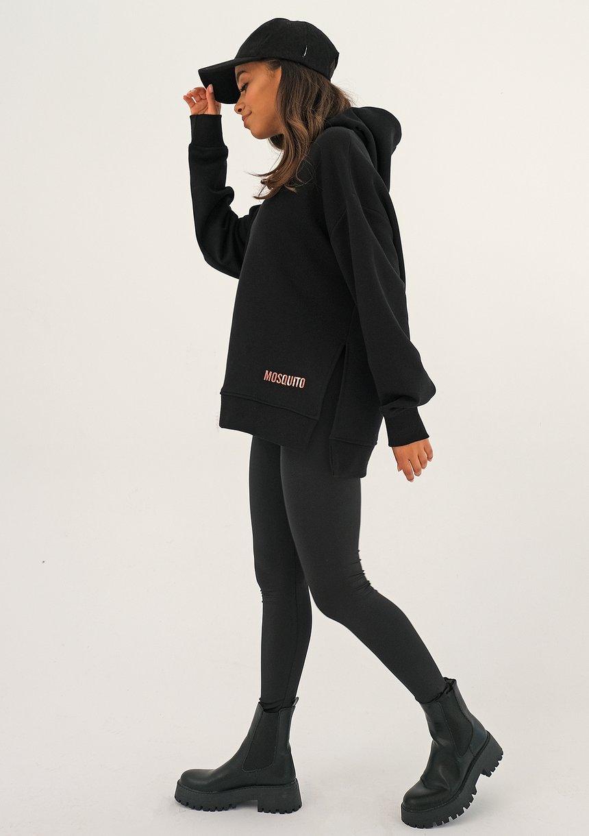 Bluza oversize logo Black ILM