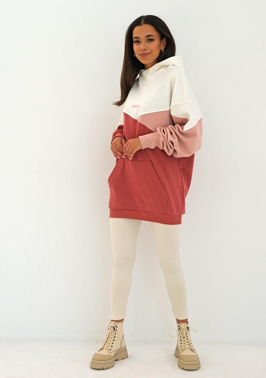 Bluza oversize trójkolorowa Dusty Rose ILM
