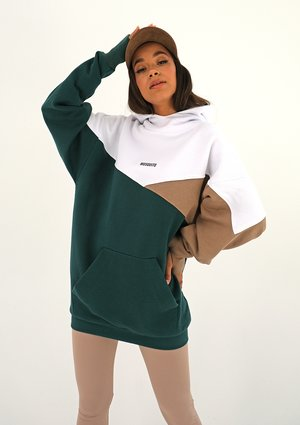 Bluza oversize trójkolorowa Deep Green ILM