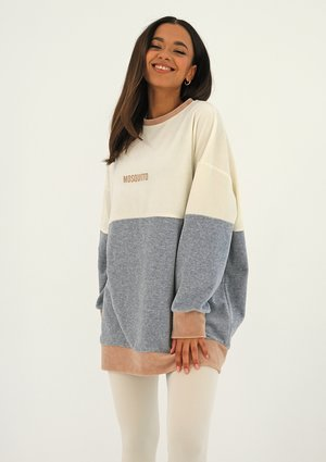 Oversize tricolor velvet sweatshirt Melange