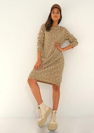 Melange knitted dress